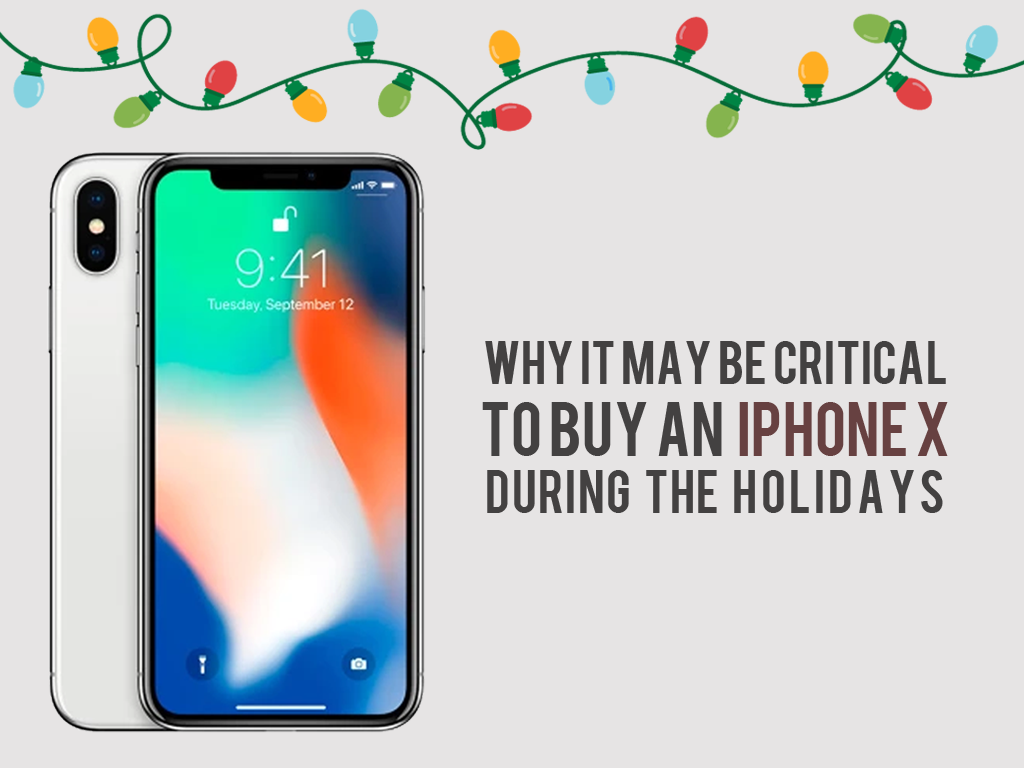 Why it May Be Critical to Buy an iPhone X During the Holidays : COVER