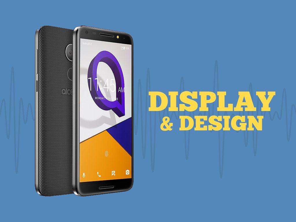 Great Phones We Unlock: Alcatel A30 FIERCE from MetroPCS : Display and Design