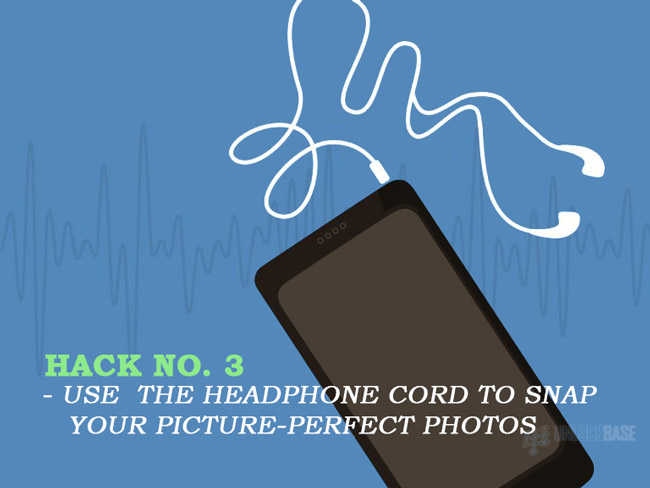 Use the headphone cord to snap your picture-perfect photos