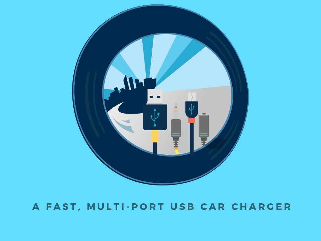 Top 5 Gadgets You'll Need for a Weekend Road Trip : Multi-port USB Car Charger