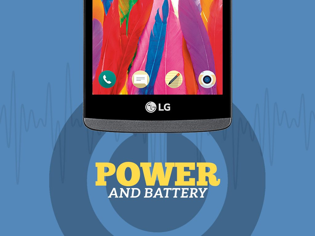 Great Phones We Unlock LG Leon 4G LTE (MS345) from MetroPCS : Power and Battery