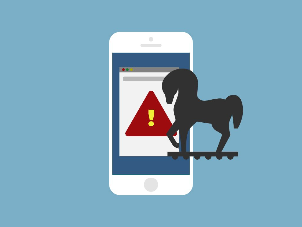 Major Red Flags of a Hacked Phone : Phone is trying to access bad sites.