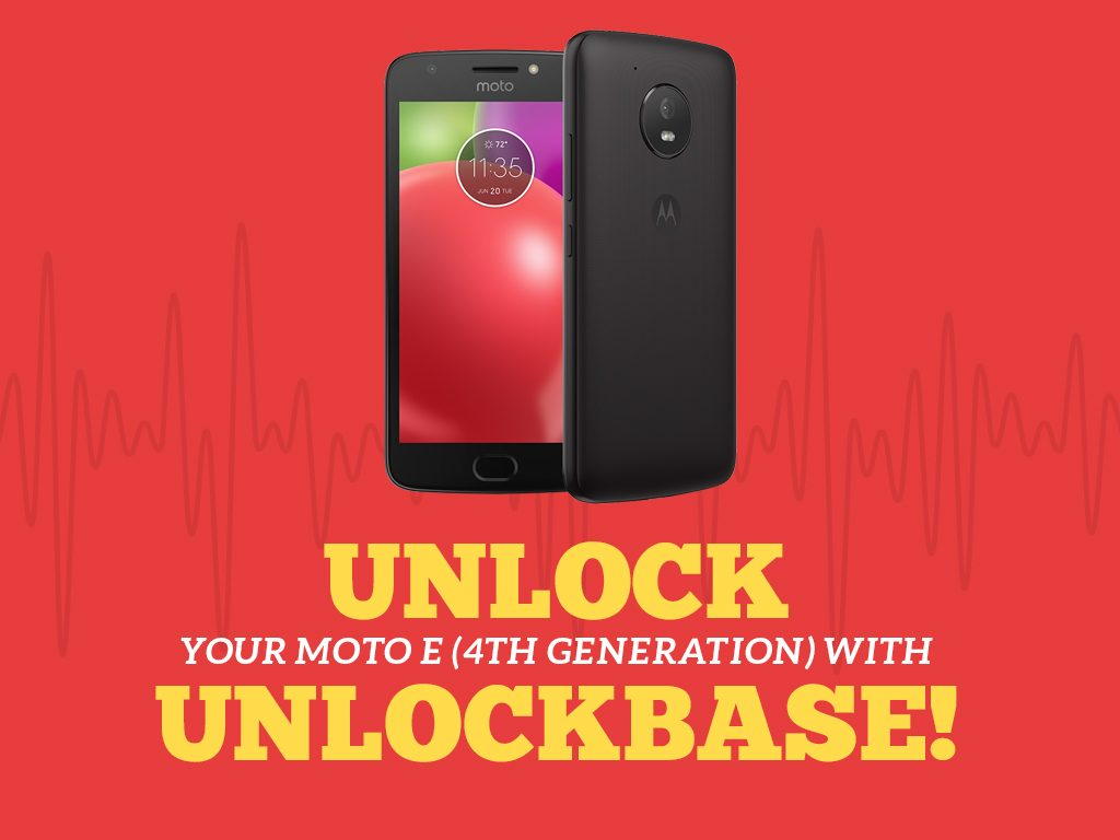 Unlock Moto E (4th Gen.) with UnlockBase