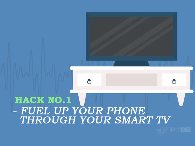 Fuel up your phone through your Smart TV