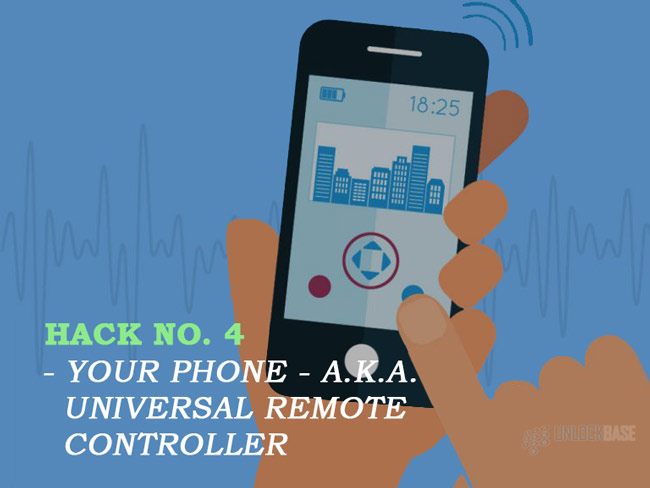 Your phone a.k.a. a universal remote controller