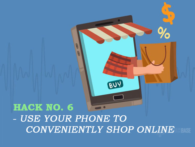 Use your phone to conveniently shop online