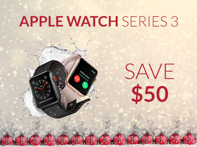 Save $50 on Apple Watch Series 3