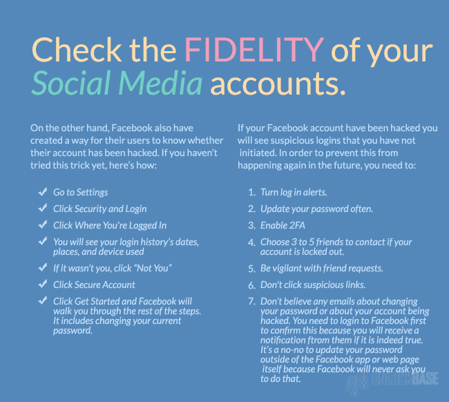 Check the fidelity of your Social Media Accounts