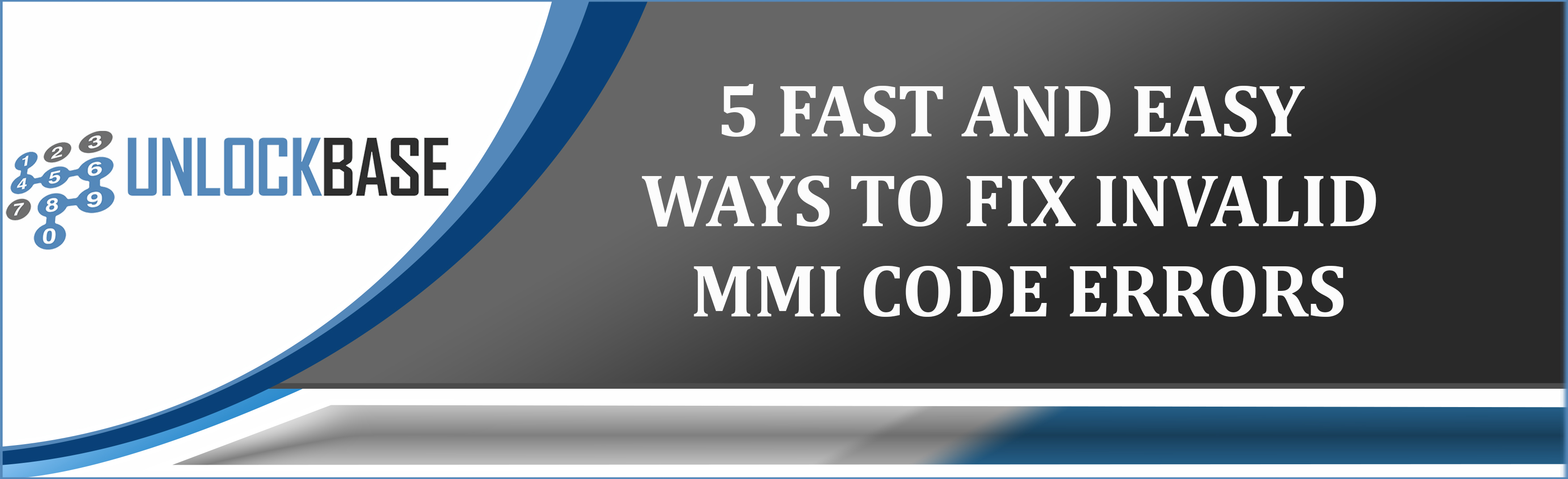 Connection problems or invalid MMI code