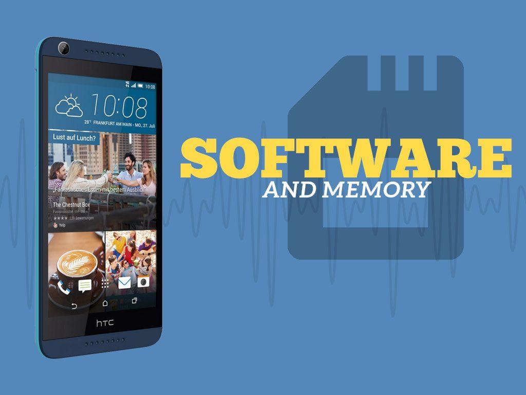 Great Phones We Unlock_HTC Desire 626s: Software and Memory