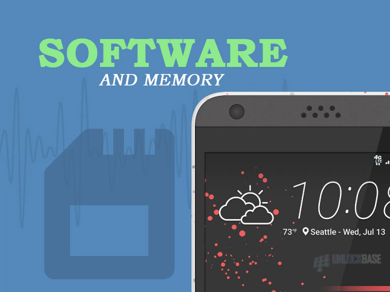 HTC Desire 530: Software and Memory