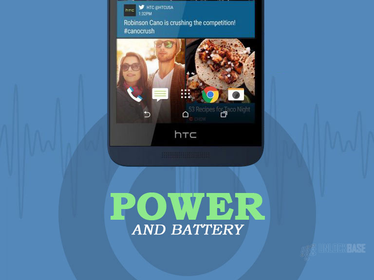 HTC Desire 626s: Power and Battery