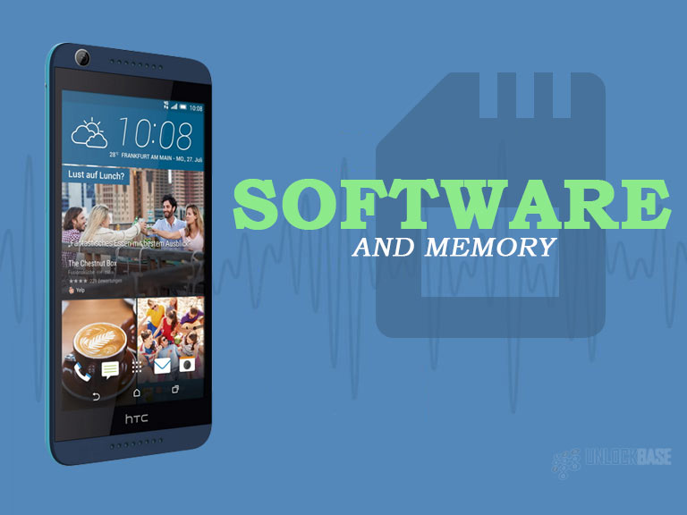HTC Desire 626s: Software and Memory
