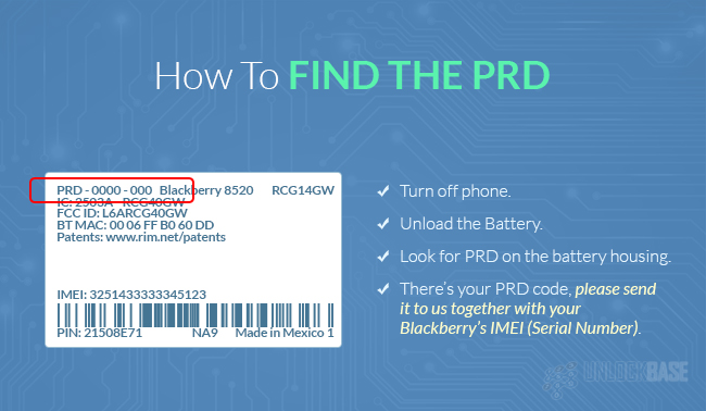 How To Find The PRD of Blackberry Phone