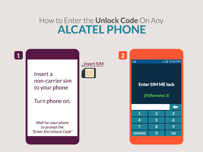 How to Enter the Unlock Code On Any Alcatel Phone
