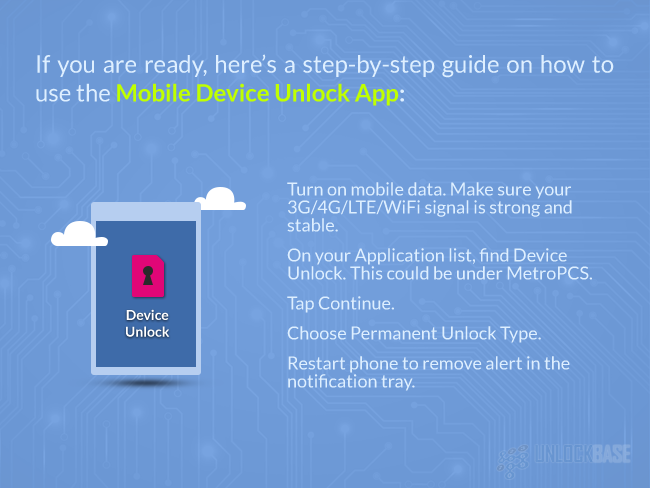 How To Use The Mobile Device Unlock App