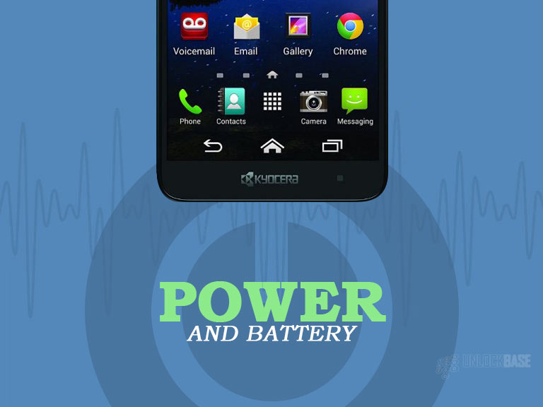 Kyocera Hydro Elite: Power and Battery