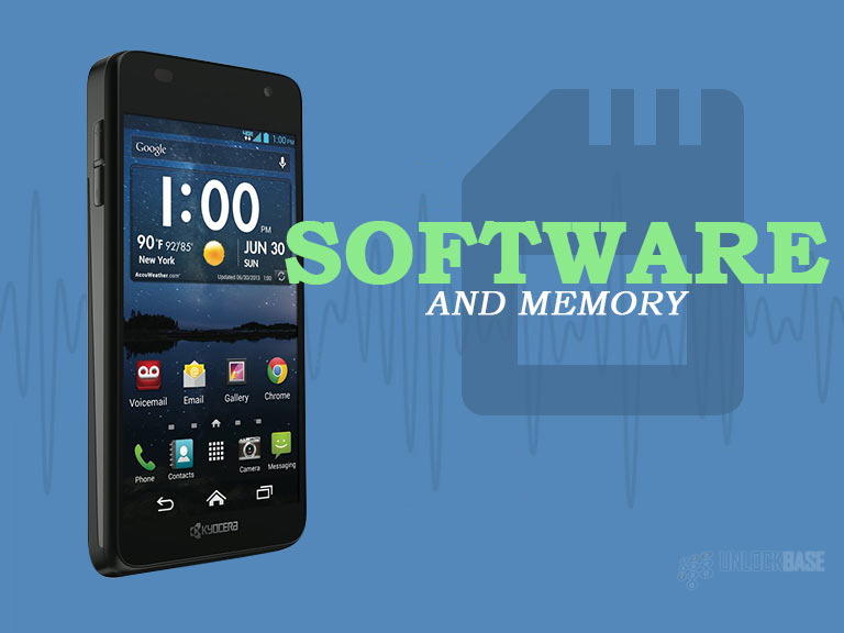Kyocera Hydro Elite: Software and Memory