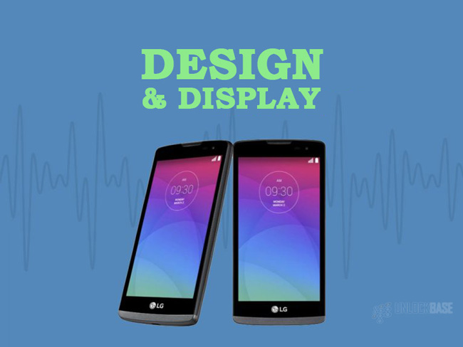 LG Leon 4G LTE MS345 : Design and Display