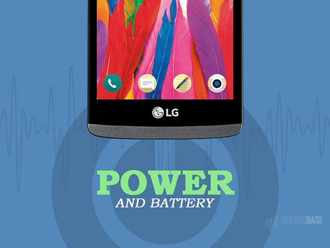 LG Leon 4G LTE MS345 : Power and Battery