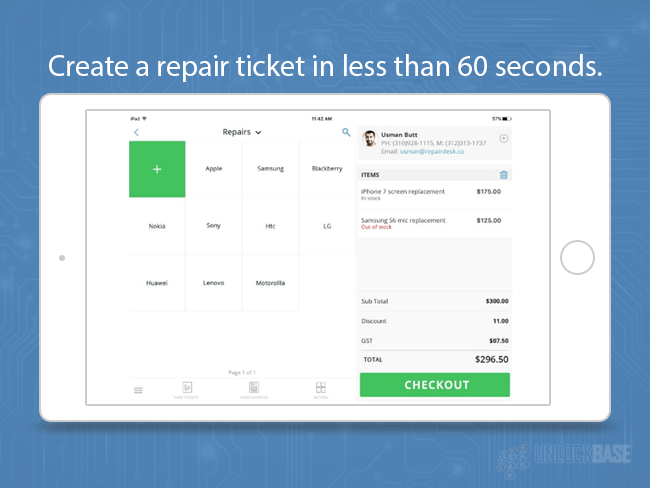 Create a Repair Ticket in Less than 60 Seconds