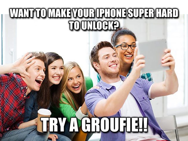Want to make your iPhone super hard to unlock? Try a groufie!