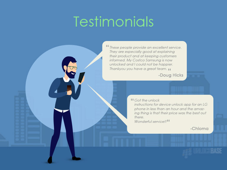 Testimonials for Free Phone Unlock Code