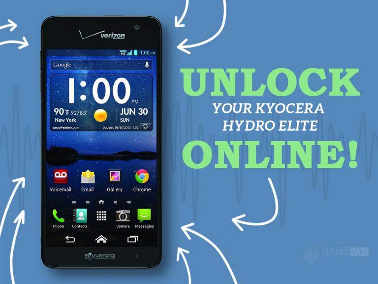 Unlock Kyocera Hydro Elite Online