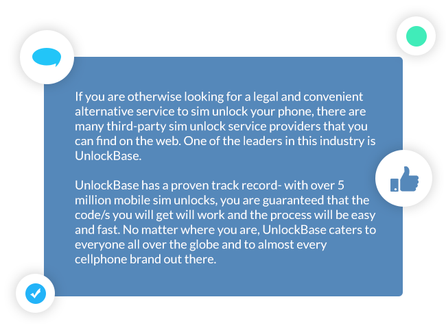 UnlockBase third-party SIM unlock service provider