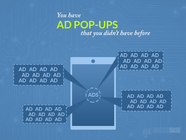 ad pop-ups that you didn't have before