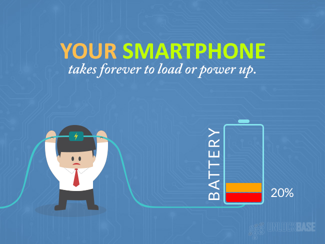 Your Smartphone takes forever to load or power up.