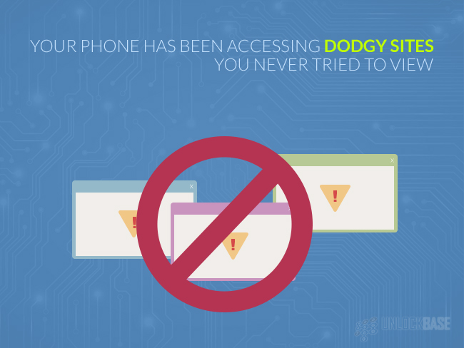 Your phone has been accessing dodgy sites you never tried to view