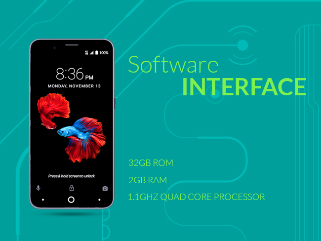 ZTE Avid 4: Software Interface
