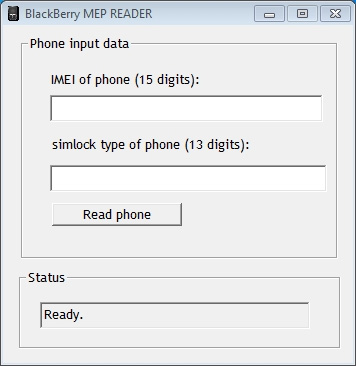 Blackberry MEP Reader Software