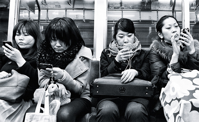 Cell Phone Addiction - Subway
