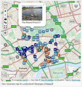 London map screenshot