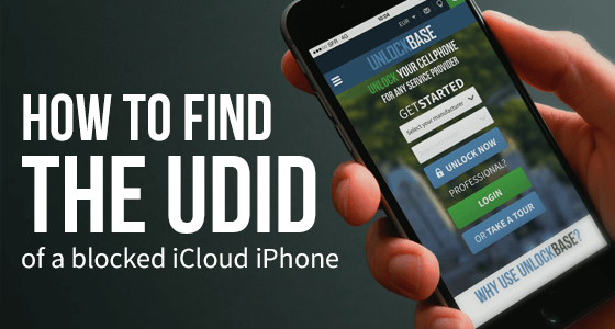 How to find the UDID of a blocked iCloud iPhone