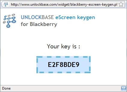 BlackBerry eScreen Key Result