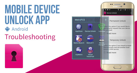 Mobile Device Unlock App (Android) - Troubleshooting