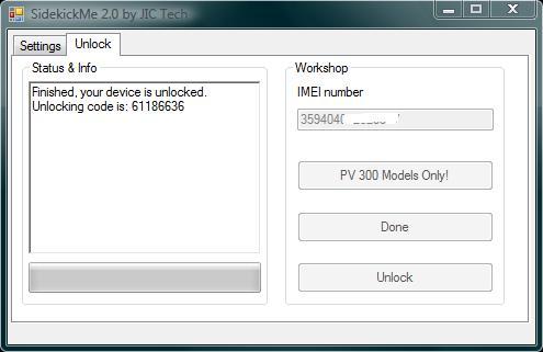 SideKic PV300 Unlocking Code
