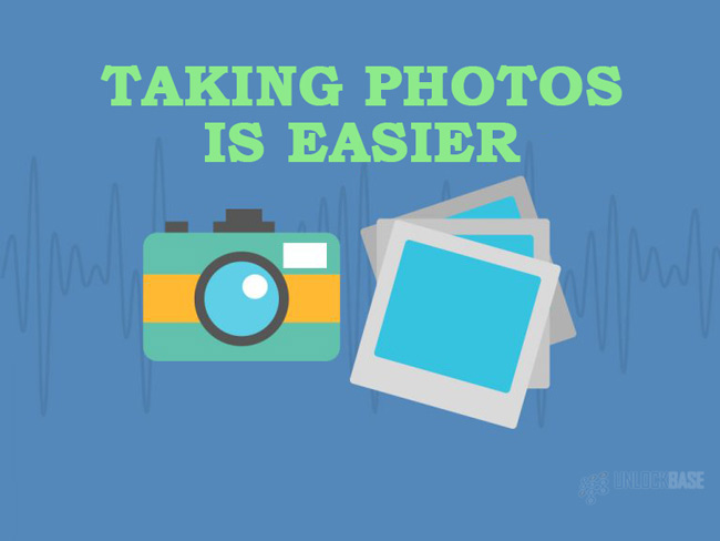 Taking Photos is Easier