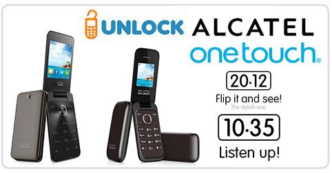 Unlock Alcatel OT 2012 and OT 1035