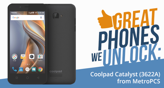 "Unlock Coolpad Catalyst from MetroPCS with ""Device Unlock"" App (Official Unlock)"