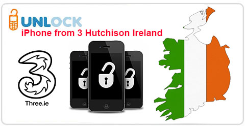 Unlock iPhone from 3 Hutchison Ireland
