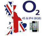 Unlock iPhone 4 8GB and 4S from O2 UK