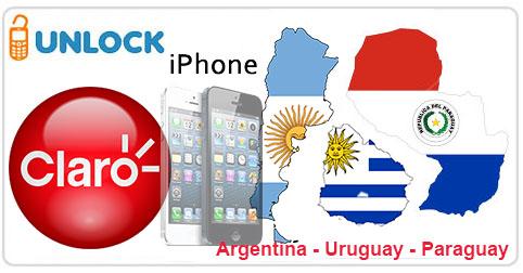 Unlock iPhone from Claro Argentina, Uruguay, Paraguay