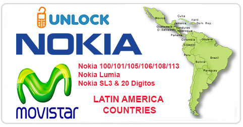 Unlock Nokia from Movistar Latin America