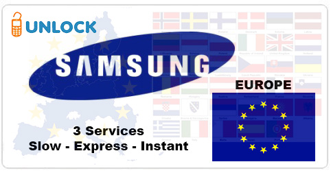 Unlock Samsung from Europe