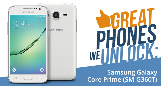 Unlock Samsung Galaxy Core Prime from T-Mobile USA