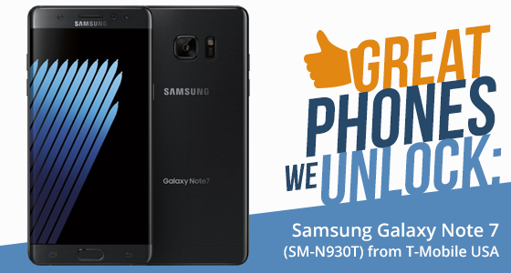 Unlock Samsung Galaxy Note 7 (SM-N930T) from T-Mobile USA